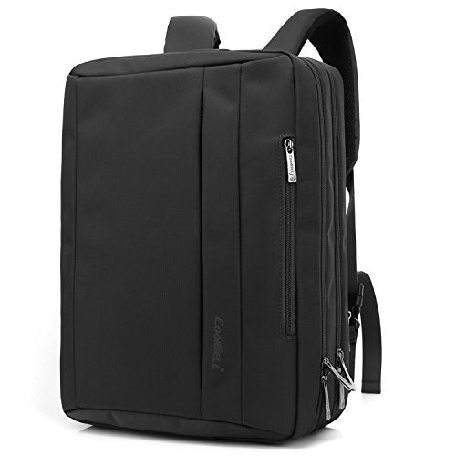 CoolBELL 15.6 inch Multi-function Convertible Laptop Messenger Computer Bag Single-shoulder Backpack Briefcase Oxford Cloth Waterproof Multi-Compartment For iPad Pro Macbook Men And Women(Black)