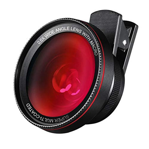 AMIR Phone Camera Lens, 0.6X Super Wide Angle Lens + 15X Macro Lens for iPhone Lens Kit, 2 in 1