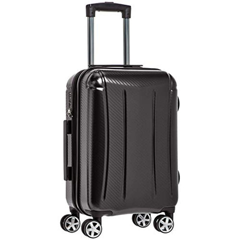 AmazonBasics Oxford Luggage Expandable Suitcase with TSA Lock Spinner, 20-Inch Carry-On, Black