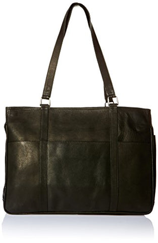 Piel Leather Large Shopping Bag, Black, One Size