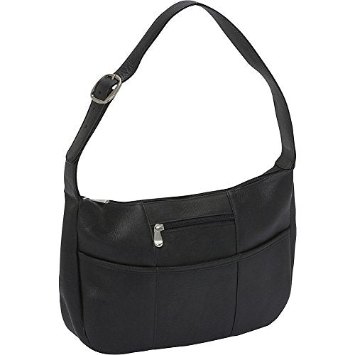 Le Donne Leather Quick Slip Shoulder Bag (Black)