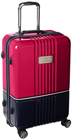"Tommy Hilfiger Duo Chrome 24"" Spinner, Luggage, Pink/Navy"