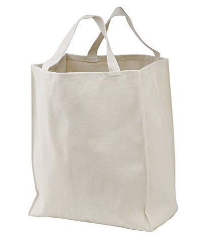 Port & Company - Reusable Grocery Tote Bag,One Size,Natural