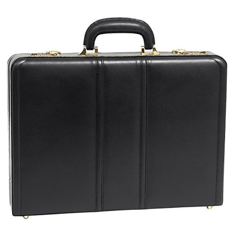 "McKlein, V Series, DALEY, Top Grain Cowhide Leather, Leather 3.5"" Attaché Briefcase, Black (80435)"