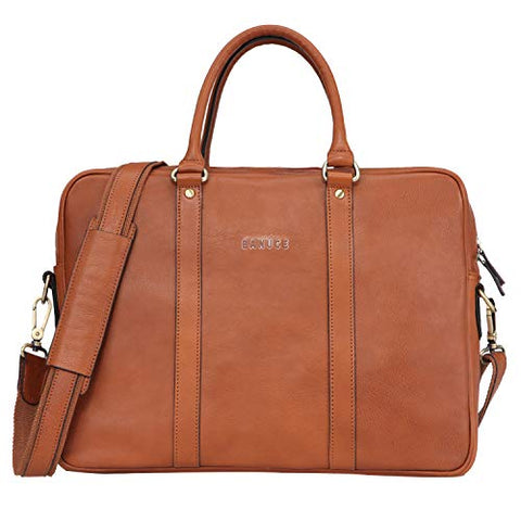 Banuce Vintage Full Grain Italian Leather Briefcase for Men Business Tote Messenger Satchel Bag