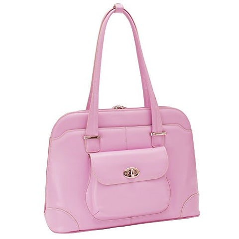"McKlein, W Series, Avon, Top Grain Cowhide Leather, 15"" Leather Ladies' Laptop Briefcase, Pink (96659)"