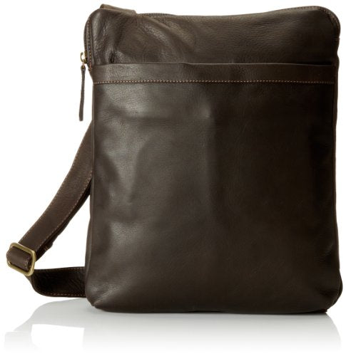 Derek Alexander NS Top Zip Unisex Messenger Bag, Brown, One Size