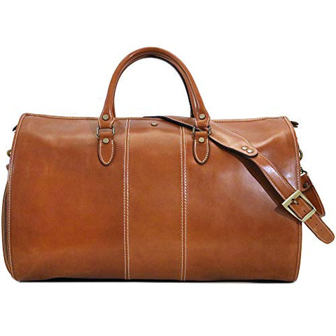 Floto Venezia Convertible Garment Duffle Travel Bag Weekender in Tempesti Leather