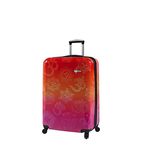Mia Toro Italy-Love This Life-Om Hardside Spinner Luggage Carry-on, LTL