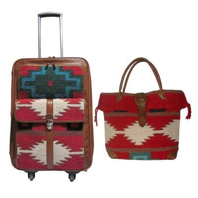 AmeriLeather Roamer 2 Pc. Carry-On Set (Red)