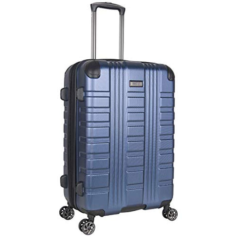 "Kenneth Cole Reaction Scott's Corner 24"" Lightweight Hardside Expandable 8-Wheel Spinner Checked Suitcase with TSA Lock, Navy"