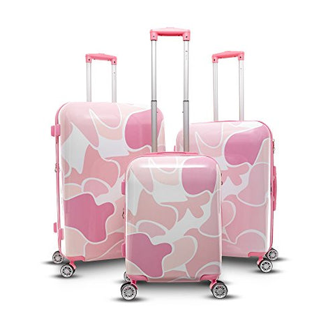 Gabbiano Camo Collection 3 Piece Hardside Spinner Set
