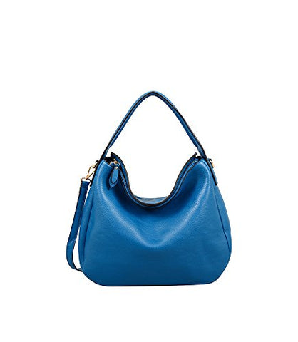 "Mellow World London Fashion Hobo 15""X4""X10"", Blue"