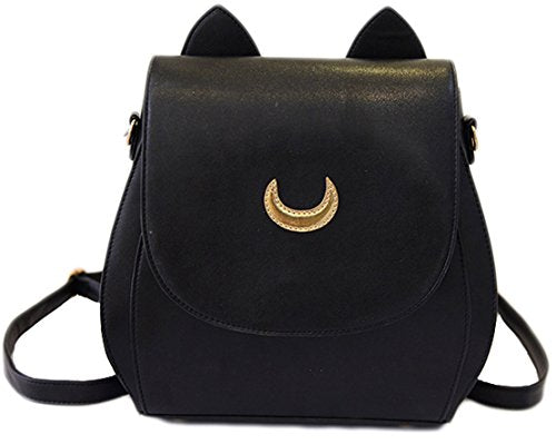 Sailor Moon Anime Cosplay Bag Backpack School Bag (Black)
