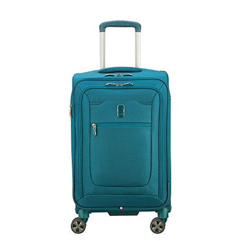 "Delsey Hyperglide 21"" Expandable Spinner Carry-on, Teal Blue"