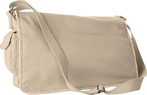 Zuzify Raw-Edge Enzyme-Washed Messenger Bag. Vl1089 Os Putty