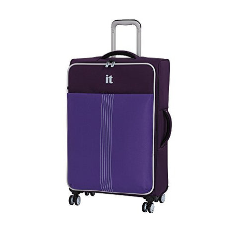 "It Luggage 27.4"" Filament 8 Wheel Lightweight Expandable Spinner, Crown Jewel/Passion Flower"