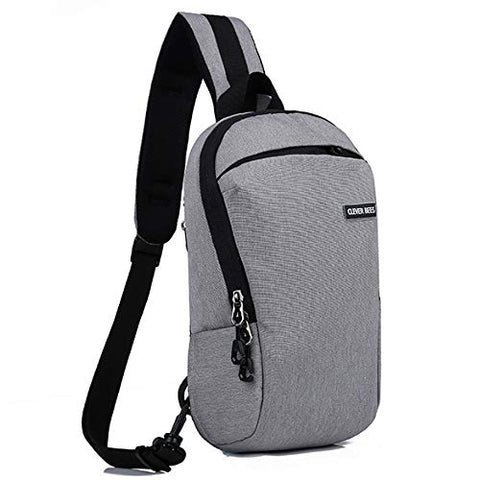 CLEVER BEES Outdoor Lightweight Cross Body Sling Pack (Grey)