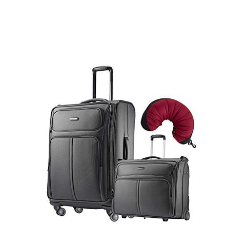 "Samsonite Leverage LTE 3 Piece Carry-On Bundle | 25"", Wheeled Garment Bag, Travel Pillow"