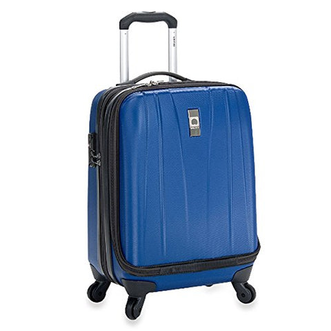 The Classic Blue Delsey Helium Shadow 19-Inch Hardside International Carry On Luggage