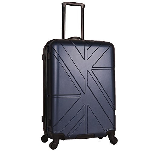 "Ben Sherman 24"" Abs 4-Wheel Check In Luggage, Navy"
