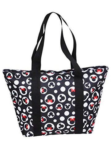 Disney Mickey Minnie Mouse Icon Polka Dot Travel Beach Tote (Mickey & Minnie)