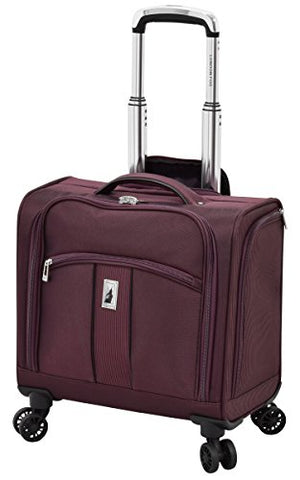 "London Fog Langley 8 Wheel 15"" Under The Seat Bag, Bordeaux"