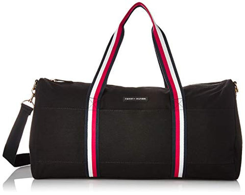 Tommy Hilfiger Duffle for Women TH Flag Canvas,  Black, One Size