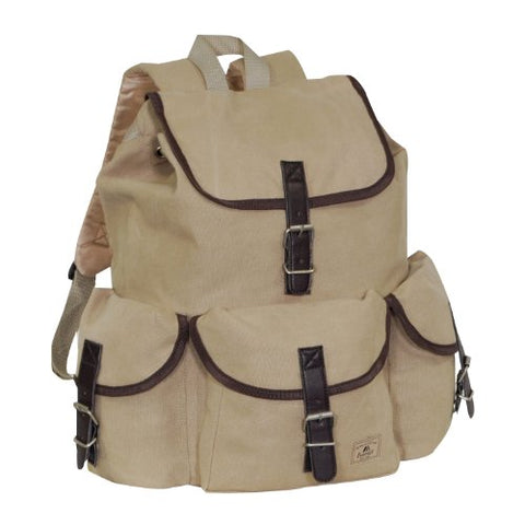 Everest Canvas Rucksack, Khaki, One Size