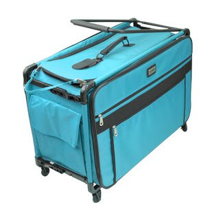 Tutto 9224TMA TURQUOISE Tutto Machine on Wheels Case, 25 by 18.5 by 13, Turquoise