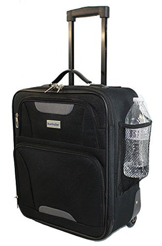 Boardingblue Airlines Rolling Personal Item Under Seat Luggage Frontier, Spirit (Black)