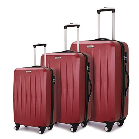 Fochier Luggage 3 Piece Set Hardshell Lightweight Spinner Suitcase 20in24in28in