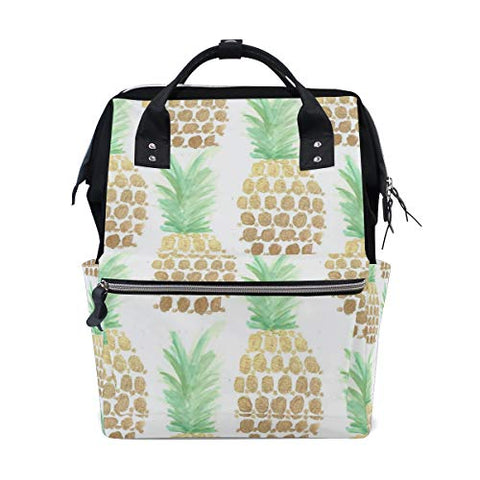Backpack Trend Art Pineapples Womens Laptop Backpacks Hiking Bag Travel Daypack