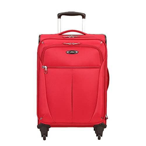 Skyway Luggage Mirage Superlight 20-Inch 4 Wheel Expandable Carry-On, Formula 1 Red, One Size