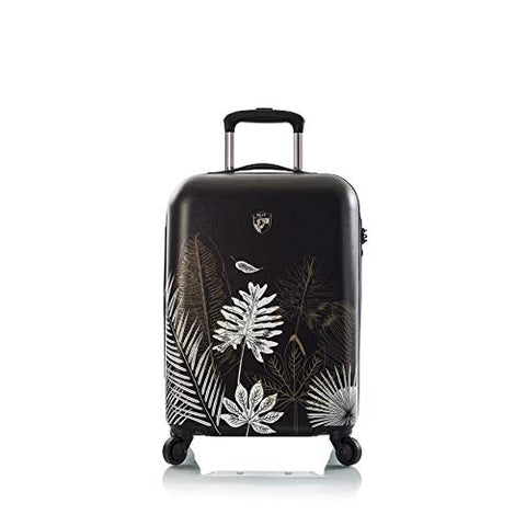 "Heys America Oasis Fashion 21"" Carry-on Spinner Luggage With TSA Lock (Black/Gold)"