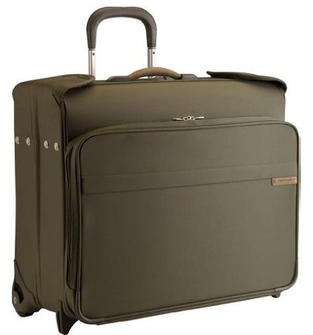 Briggs & Riley Deluxe Wheeled Garment Bag,Olive,20X24X11.5