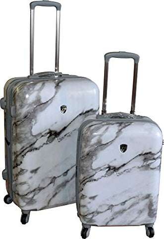 "Heys America Unisex Carrara Marble Check In 26"" & Carry On 21"" Spinner Luggage Set"