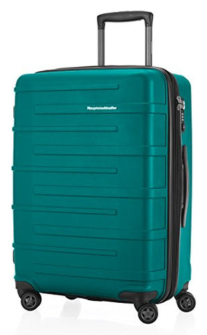 HAUPTSTADTKOFFER - Ostkreuz - Luggage Suitcase Hardside Spinner Trolley Expandable 24¡° TSA, Pine Green