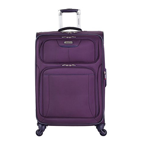 "Ricardo Beverly Hills Luggage Saratoga 25"" Spinner Upright Suitcase, Elixir Purple"