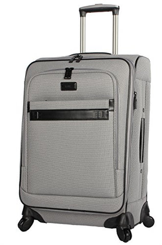 "Nicole Miller New York Coralie Collection 28"" Expandable Upright Luggage Spinner (Gray)"