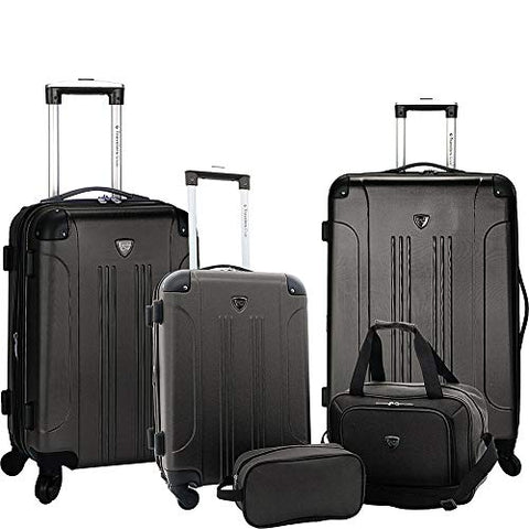 Travelers Club Luggage Chicago Plus 5Pc Expandable Luggage Set, Black