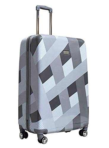 "Nicole Miller Rainbow 20"" Hard-Sided Luggage Spinner (20 in, Rainbow Silver)"