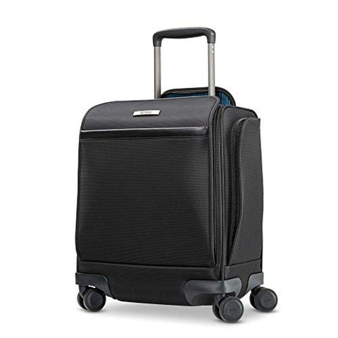 Hartmann Metropolitan 2 Underseat Spinner Carry-On Luggage, Deep Black