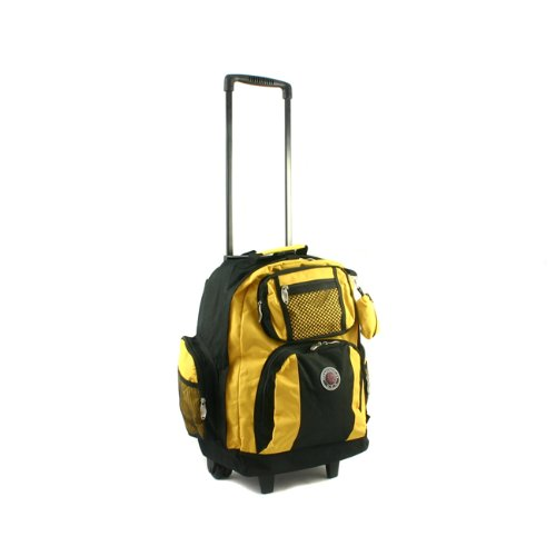 Transworld Roll-Away Deluxe Rolling Backpack - Yellow