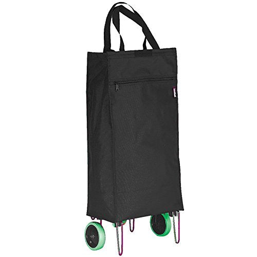 Goodhope Bags Rolling Folding Shopping Cart - Black