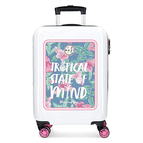 Maui & Sons Tropical State Hand Luggage, 55 cm, 33 Litres, Pink
