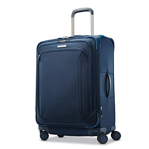 Samsonite Lineate Expandable Softside Checked Luggage with Spinner Wheels, 25 Inch, Evening Teal