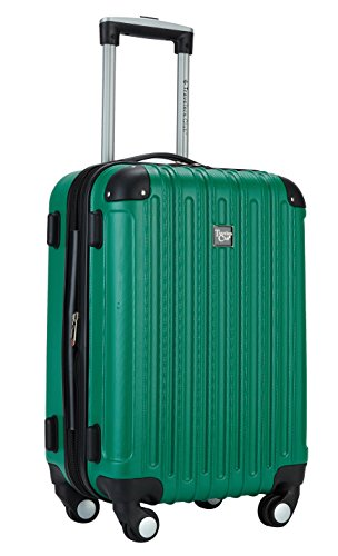 Travelers Club Luggage Madison 20 Inch Expandable Hardside Carry, Green