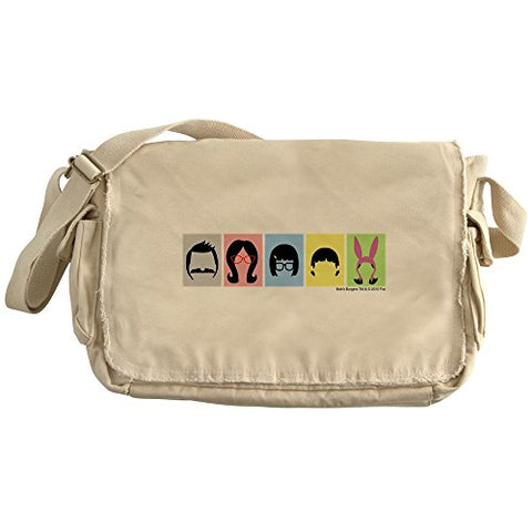 Cafepress - Bob'S Burgers Silhouettes - Unique Messenger Bag, Canvas Courier Bag