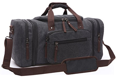 Canvas Duffel Bag, Aidonger Vintage Canvas Weekender Bag Travel Bag Sports Duffel with Shoulder